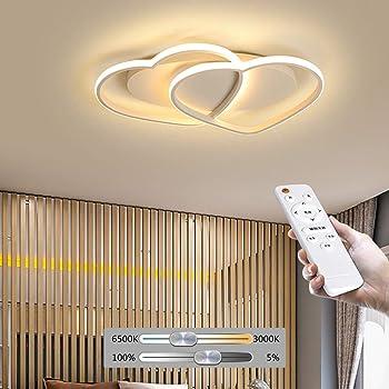 Plafonnier LED Plafond En Forme De Coeur Pendentif Lustre Salle De