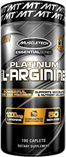 Muscletech Pills L Arginine 0mg Capsules Nitric Oxide Supplement Supports Superior Vasodilation & Nutrient, Unflavored, 10...