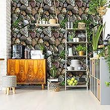 MUMUWU 3D Stone Brick Wallpaper Roll Living Room Bedroom Restaurant Background Loft Removable PVC Wall Sticker Wall Paper...