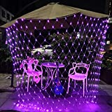 RENUS Netzlicht LED Mesh-Licht 3m x 2m 320 LEDs wasserdichte Dekorative Außenleuchte Lichterketten mit 8 Lichtmodelle für Partydekoration deko schlafzimmer,Weihnachten, Innenbeleuchtung, Rosa