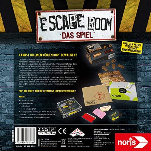 Noris Spiele 606101546 Escape Room Inkl. 4 Fällen und Chrono Decoder - 4