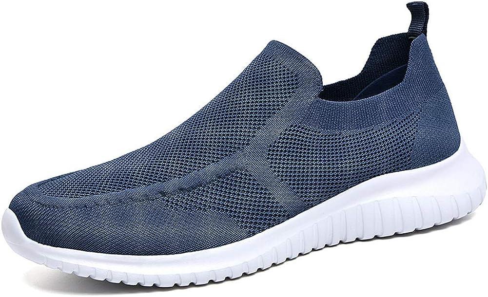 期間限定お試し価格 <セール&特集> LANCROP Men's Comfortable Walking Shoes Loafer Sli - Casual Knit