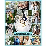 Fotodecke Personalisierte Decke mit Bild für Erwachsene Baby Haustier Flanell Vlies Customized Photo Throw Geburtstag Hochzeitsgeschenk 12 Fotos Collage (80x120cm)