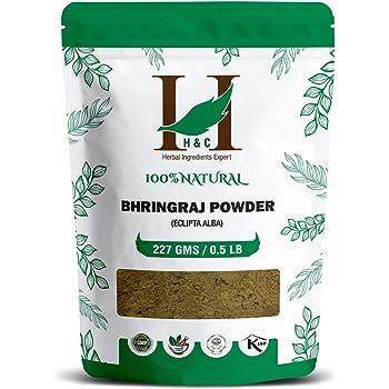 H&C Herbal Ingredients Expert 100% Natural Bhringraj (Eclipta Alba) Powder - 227g / 0.5 LB / 08 oz - For Hair Care | Hair Growth Rejuvenator