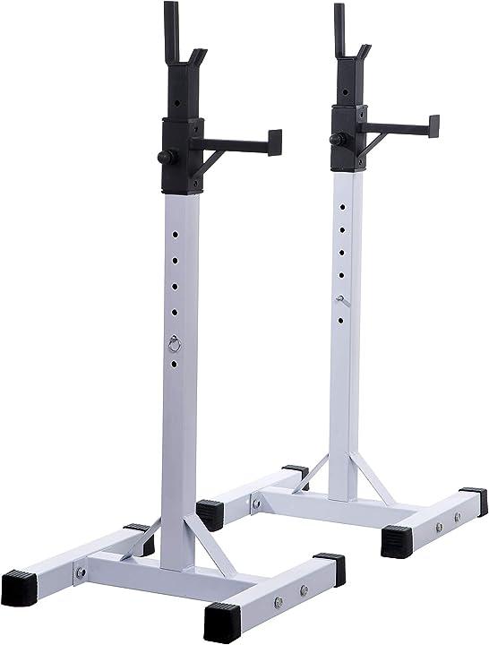 Supporto bilanciere porta manubri per pesistica fitness max 150kg homcom B1-0014
