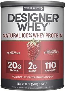 Designer Whey Protein Powder, Summer Strawberry, 12 Oz, Non Gmo, Made in the USA