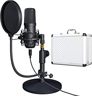 USB Microphone Kit 192KHZ/24BIT with Aluminum Organizer...