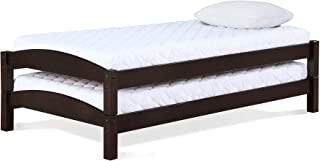 Max & Finn Stackable Beds, Twin Size Frame, Set of 2, Espresso