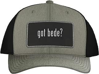 One Legging it Around got bede? - Leather Black Metallic Patch Engraved Trucker Hat