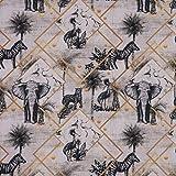 SCHÖNER LEBEN. Dekostoff Vorhangstoff Baumwollstoff Safari