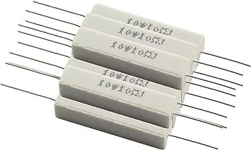 Tegg 10PCS Cement Resistors 10W Horizontal 10 ohm 5% Ceramic Wirewound Resistors - coolthings.us