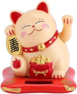 GLOGLOW Saludando al Gato Acogiendo con beneplácito el Gato Decoración del Gato Buena Suerte Riqueza Bienvenida Gatos Sola...