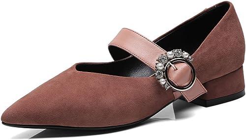 MKJYDM Chaussures pour Les Les dames dames avec Souliers Occasionnels en Strass nacré, Chaussures Plates décontractées Chaussures de Travail pour Femmes Mary Jane pour Hommes, Chaussures de Travail Talons Femme  sortie en vente