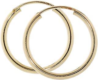 12 pz Czech pressato perle di vetro Spike Beads 5x13 mm Amber Capri Gold