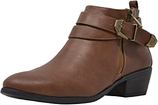 Women's Low Stacked Heel Ankle Riding Booties