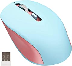 Wireless Mouse, Seenda 2.4G Quiet Portable Computer Mouse with USB Receiver for Notebook, PC, Laptop, Computer, Pink & Blue