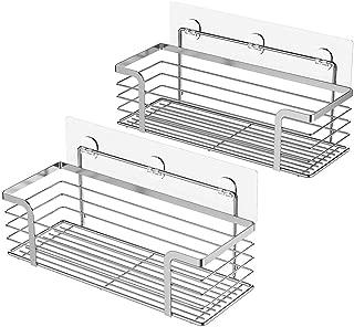 ODesign Shower Caddy Basket Shelf for Shampoo Conditioner Bathroom Kitchen Storage Organizer SUS304 Stainless Steel No Drilling - 2 Pack
