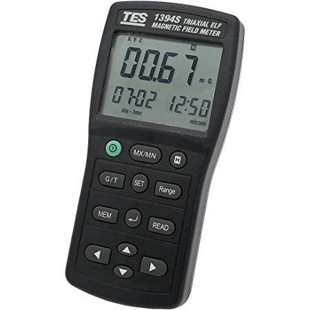Tes 1394s Electromagnetic Field Tester Magnetic Field Gauss Meter Electromagnetic Radiation Detector Low Frequency 30hz 2khz Micro Sd Card Baumarkt