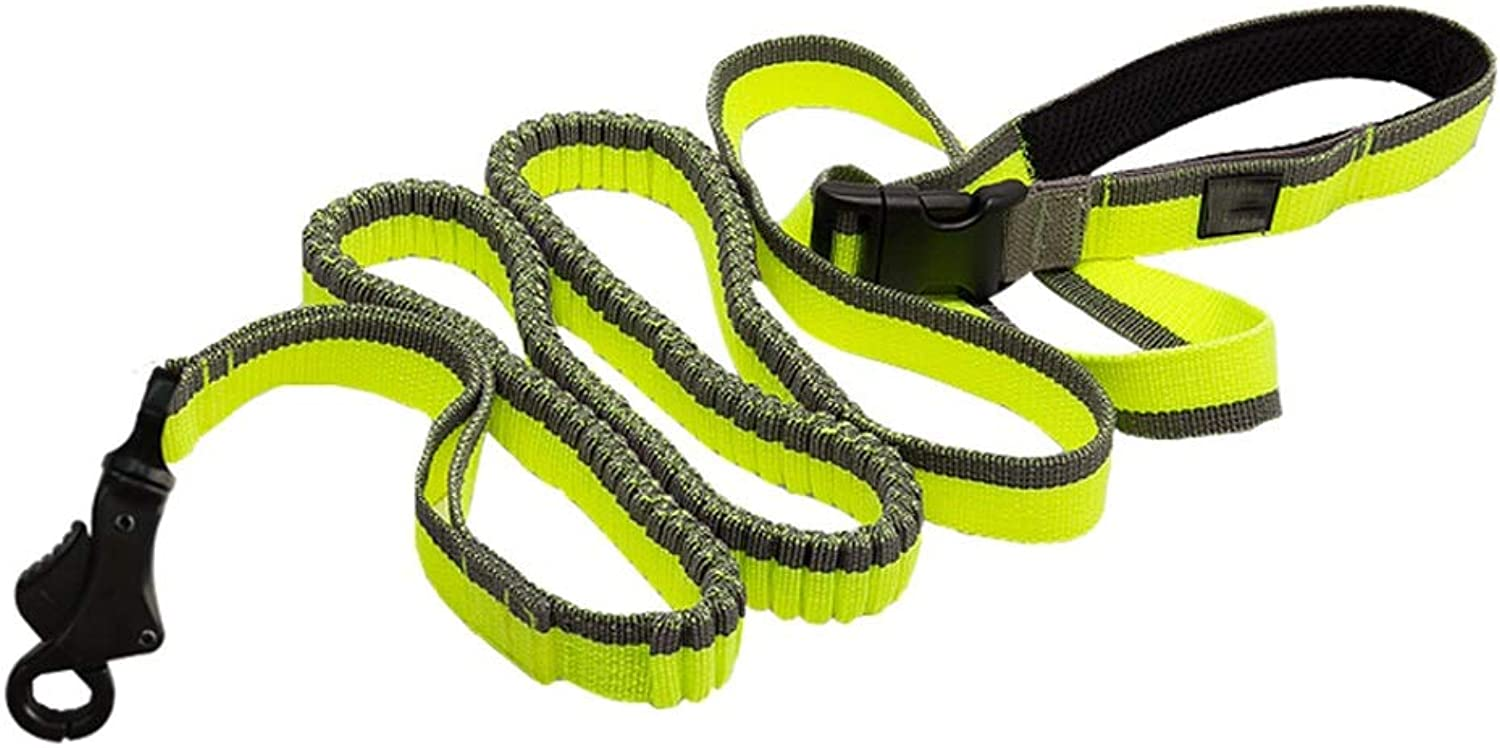 Dog Leash, Nylon Weave Dog Leads Tracking Training Long for Large Medium and Small Dogs Training Leash (color   Green, Size   M(140200CM))