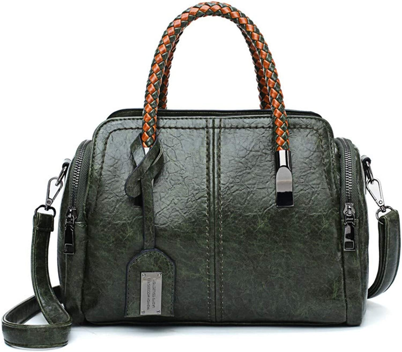 MSFANGDAN Umhängetasche Frauen Mode Handtasche Schultertasche Damen Vintage Messenger Bags Neue Grüne Freizeit Einfache Top-Handle Taschen B07P71QSCJ  Flut Schuhe Liste