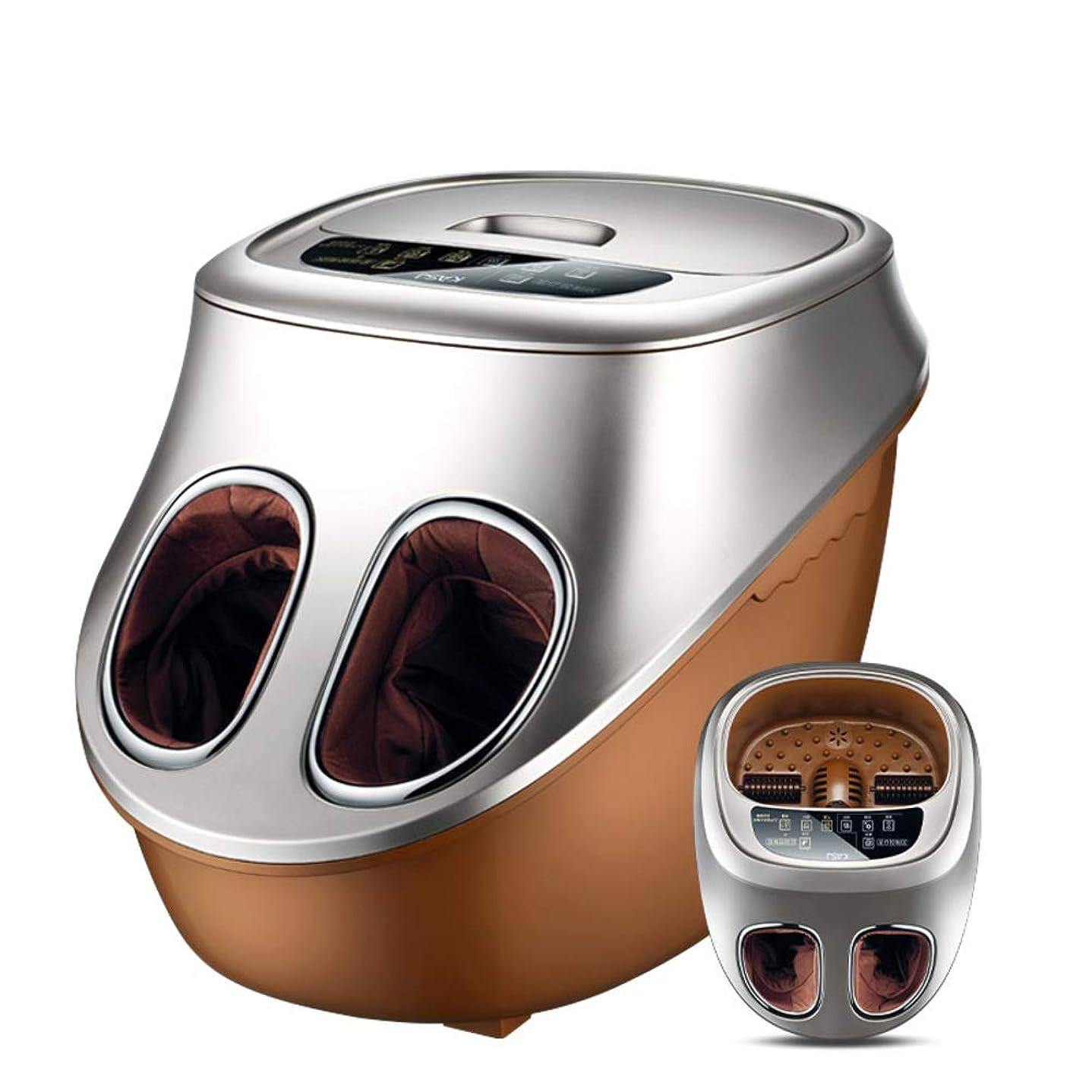 ヒューバートハドソン嬉しいです便利指圧 フット マッサージ マシン,フットバス 熱を持つ,足湯 ペディキュア デトックス 浸漬 足浴槽 足の痛みを緩和します。 治療-ゴールド