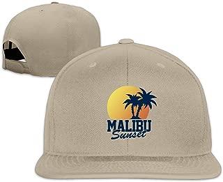 Vintage Malibu Sunset Flat Bill Adjustable Baseball Hats