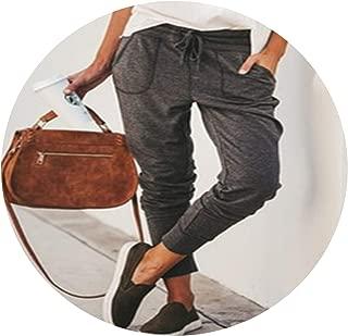Women Jogger Pants Casual Loose Drawstring Sweatpants Sports Soft Harem Trousers