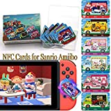 6Pcs NFC Villager Furniture Cards for Sanrio Animal Crossing New Horizons, Compatible with Switch/Switch Lite/Wii U, with Storage Case