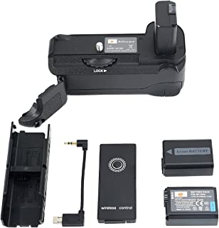 DSTE Infrared Remote Control Vertical Battery Grip VG-6300 for Sony A6300 A6000 Digital Camera with 2pcs NP-FW50 Battery