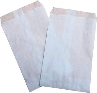 100 pezzi Sacchetti carta bianca, 10x16 centimetri, confettata, bianco, bustine carta, sacchetti carta confetti, confettat...