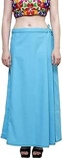 CRAFTSTRIBE Women Saree Petticoat Inskirt Underskirt Skirt White Sari Cotton Innerwear