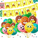 Yisscen decoración de fiesta de globos, juego de globos, suministros de fiesta de cumpleaños, globos de cumpleaños, para niños Baby Shower decoraciones de fiesta de cumpleaños