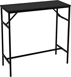 """YITAHOME Bar Table, Rectangular 39.4"""" Bar Height Table Industrial Furniture, Breakfast Table for Dining Room Kitchen Living Room Party Room, Sturdy Metal Frame, Easy Installation, Black"""