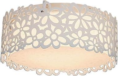 LED Plafonnier Ronde Design en Acrylique Lampe du Plafond Modern Abat-jour en Fleurs Ciselée Pour Chambre à Coucher Bureau Cu