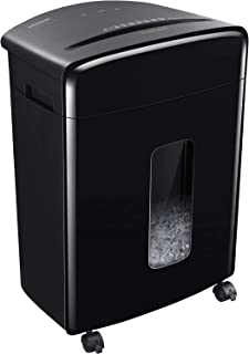 Bonsaii Updated 15-Sheet Cross-Cut Paper Credit Card Shredder for Office with 5.3 Gallon Pullout Basket and 4 Casters, 30 ...