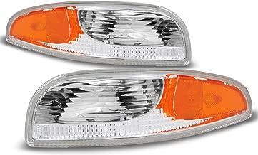 For 1997-2004 Chevrolet Corvette Driver + Passenger Replacement Bumper Signal Parking Lights Lamps Pair