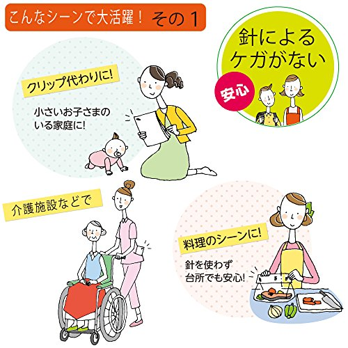 Kokuyo Harinacs japanischen Stapleless Hefter Schwarz SLN-MSH110D bis zu 10 Papers - 6