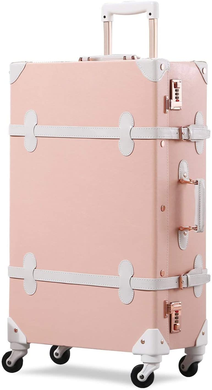 GSAGJlgx Travel Luggage Trunk Vintage security Los Angeles Mall Lo with Suitcase Women TSA