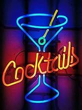LDGJ Neon Signs for Wall Decor Handmade Sign Home Larger Cocktails Martini Custom Beer Bar Pub Recreation Room Lights Wind...