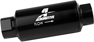 """Aeromotive 12330 Filter, In-Line, 40-Micron Stainless Mesh Element, ORB-10 Port, Bright-Dip Black, 2"""" OD"""