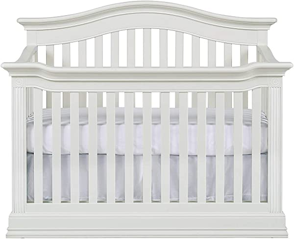Baby Cache Natural Hardwood 4 In 1 Convertible Crib Multigenerational Quality Design Kiln Dried Hand Crafted Construction Montana Collection Glazed White