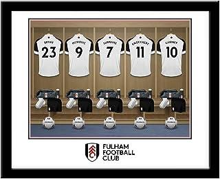 Gerahmter Druck personalisierbar Fulham FC Umkleidezimmer Motiv