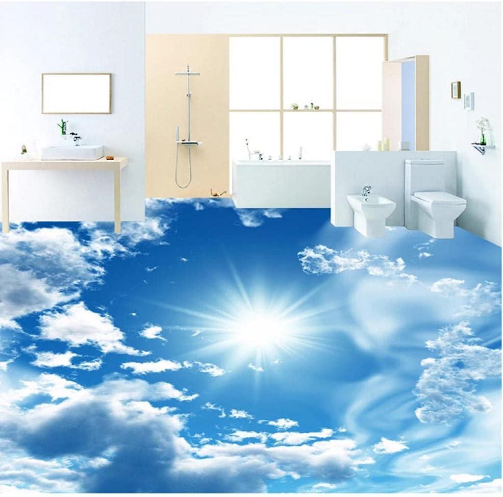 N\ A Custom 3D Stereoscopic Floor Murals Whit Louisville-Jefferson County Mall Sky Max 57% OFF Wallpaper Blue