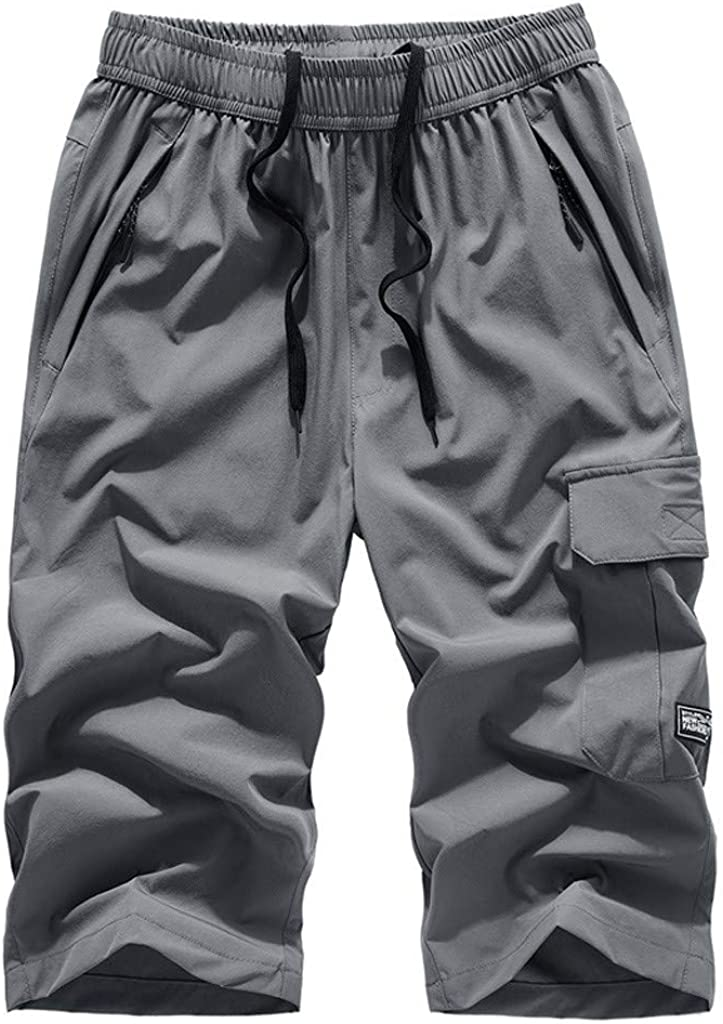 Shorts for Men, Men's Shorts Casual Classic Fit Drawstring Summer Beach Shorts with Elastic Waist and Pockets