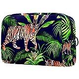 Tiger in The Jungle - Estuche organizador de maquillaje para viaje