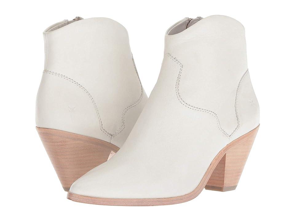 Frye Lila Western Short (White Polished Soft Full Grain) Cowboy Boots