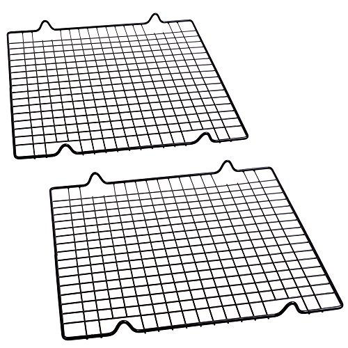 Cosmos Pack of 2 Non Stick Baking Cooling Rack, 10 x 11 inches