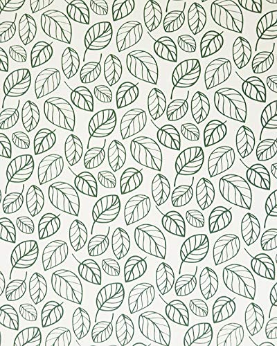 """Green Leaves Shelf Liners Green Wallpaper Green Peel and Stick Wallpaper Green Leaves Wall Paper Self Adhesive Modern Natural Leaf Waterproof Removable Leaf Wall Decals Home Decorative 17.7""""×78.7"""""""