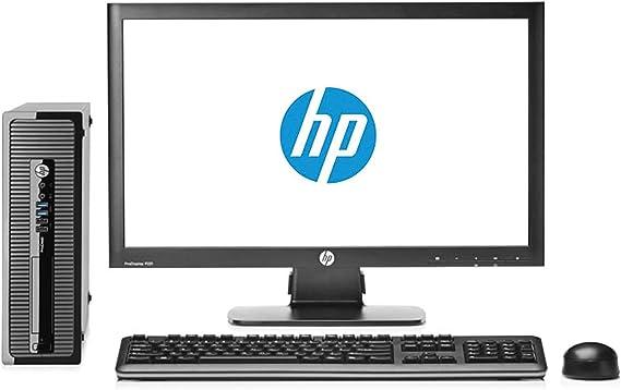 HP Elite 8200 - Ordenador de sobremesa Completo + Pantalla 22 pulgadas(Intel Core I5-2400, 8GB RAM,SSD de 240 GB, DVD, Windows 10 Profesional Original) Negro (Reacondicionado)