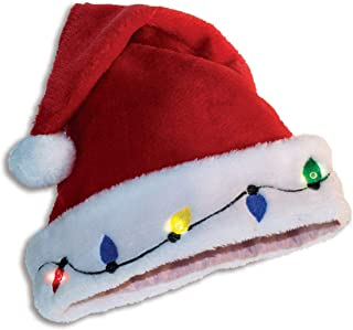 Forum Novelties 74024 Light Up Santa Hat, Multicolor, One Size fits Most, Pack of 1